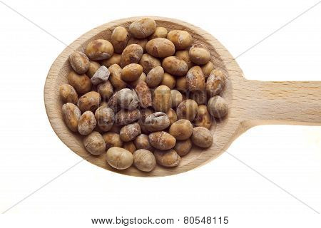 Herbs And Spices On Wooden Spoons - Soya
