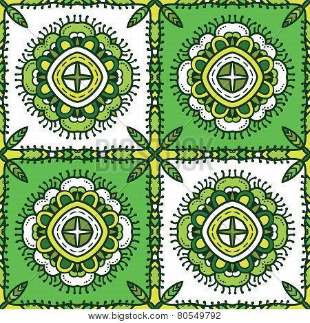 Green Ethnic Pattern