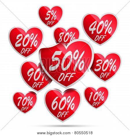 Heart Sale Labels