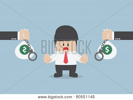 Businessman Don't Accept Loan Offer, Financial Concept