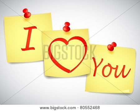I Love You Notes