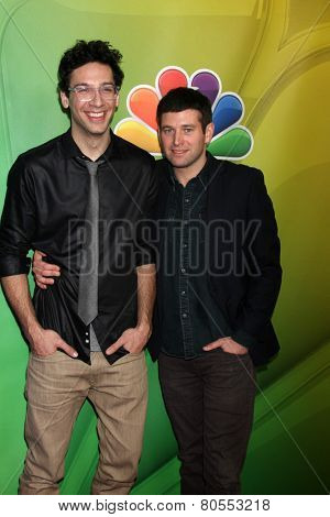 LOS ANGELES - DEC 16:  Rick Glassman, Brent Morin at the NBCUniversal TCA Press Tour at the Huntington Langham Hotel on December 16, 2015 in Pasadena, CA