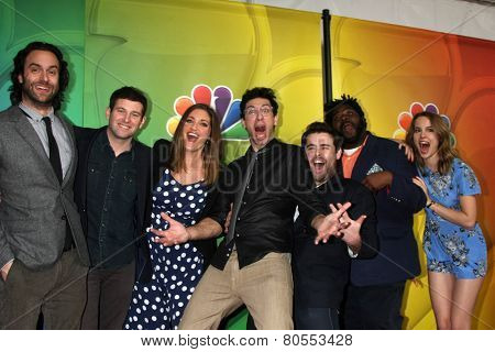 LOS ANGELES - JAN 16:  Undateable Cast at the NBC TCA Winter 2015 at a The Langham Huntington Hotel on January 16, 2015 in Pasadena, CA