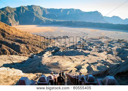 Mt Bromo Volcanic Plateau, Java, Indonesia