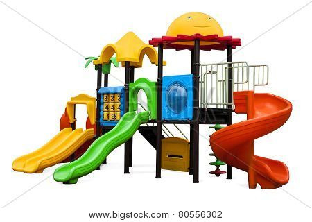 Playground for children in the yard