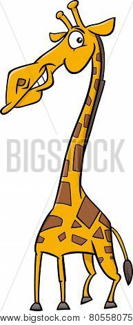 Giraffe Animal Cartoon Illustration