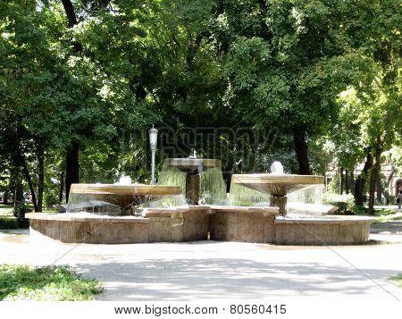 Tashkent Fountain In Amir Temur Square 2007