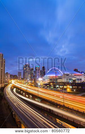 Gardiner Expressway At Rush Hour