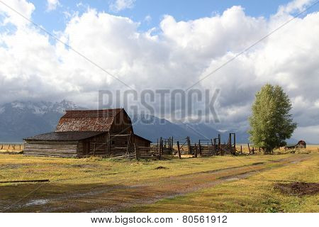 Mormon Row Barn In The Grand Tetons