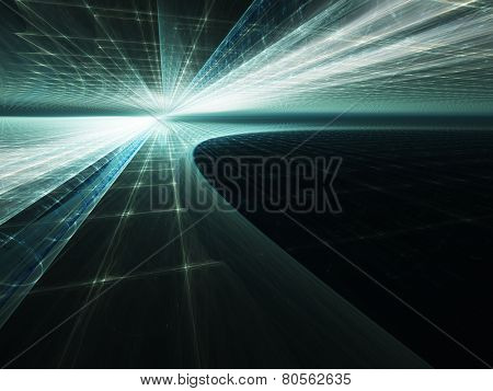Abstract blue dynamic background