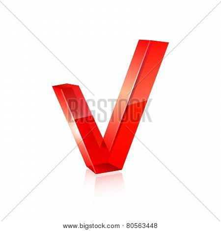 red checkmark. Vector