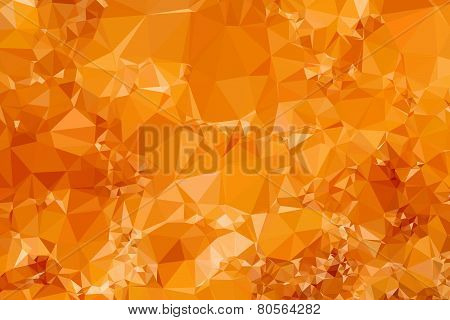 Low Poly Orange Triangular Abstract Background