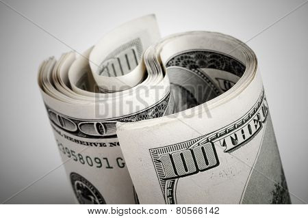 Twisted United States Dollars, Hundred Usd Banknotes