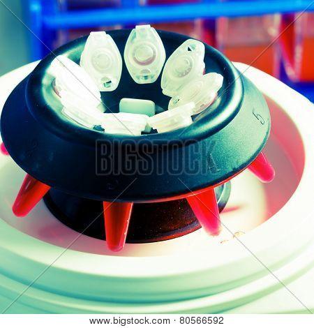 PCR tubes in centrifuge