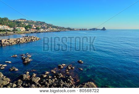 Cliff Of Acireale, Catania, Italy