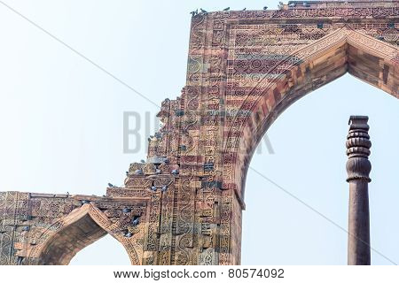 Iron pillar of Delhi and the details