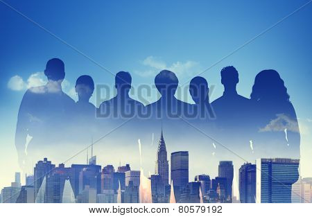 Business People Partnership Support Team Urban Scene Concept