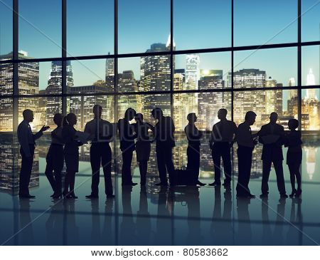 Business People Communication Meeting Discussion Conversation Corporate Concept