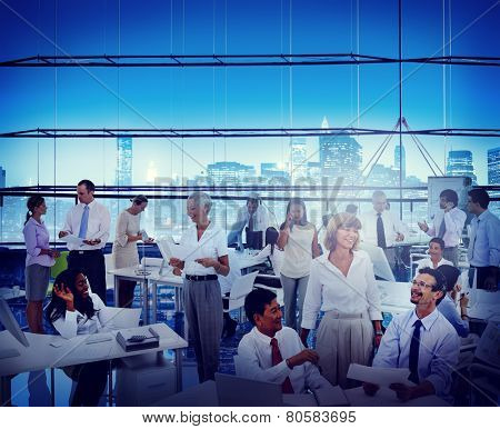 Business People Office Workplace Interaction Conversation Teamwork Concept