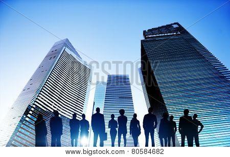 Business People Cityscape Architecture Building Business Metropolis Concept