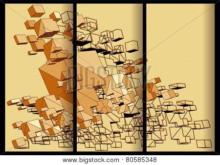 Abstract Cubical Banners