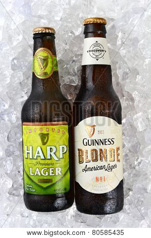 Harp And Guinness Blonde On Ice