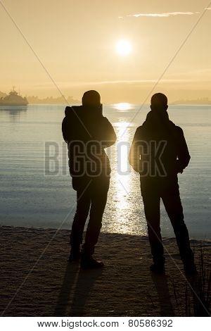 A Couple And The Sundown