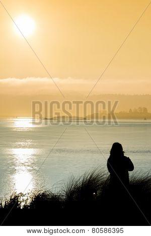 A Woman And The Sundown