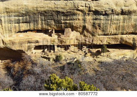 Fire Temple In Mesa Verde National Park, Colorado In Winter