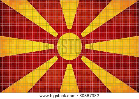 Abstract Mosaic flag of Macedonia
