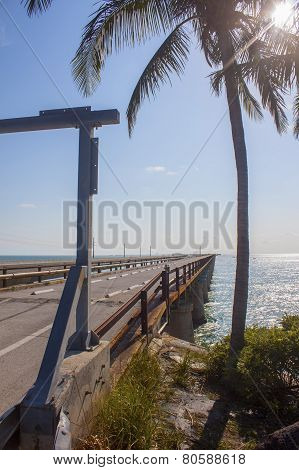 Old Bridge In The Florida Keys, Florida