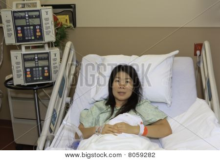 Asian Woman in Hospital