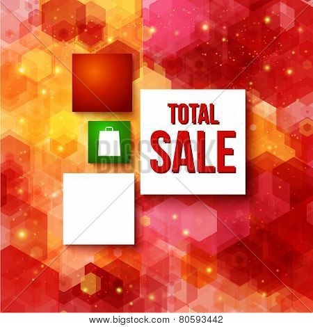 Christmas sale layout with place for Your advertisement.
