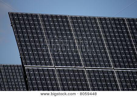 Pv Solar Panels Under Sky