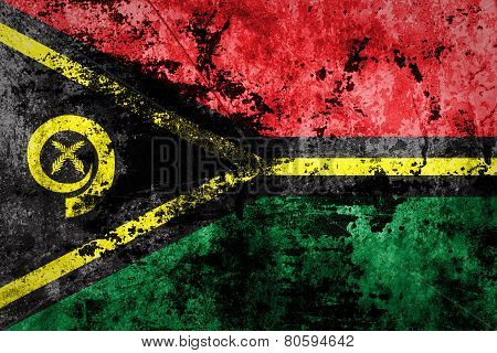 Grungy Vanuatu Flag