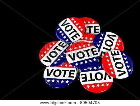 patriotic voting pins