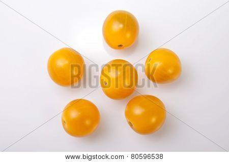 Yellow Shiny Cherry Tomatoes