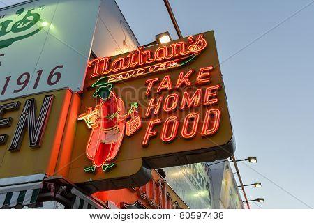 Nathan's Famous Hotdogs, Original - Brooklyn, Ny