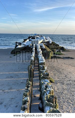 Coney Island Beach, Winter