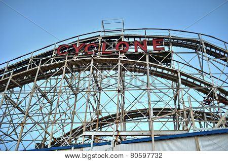 Coney Island Rollercoaster In Winter