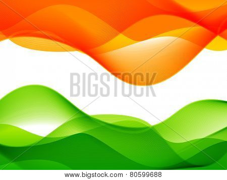 vector wave style lines flowing making indian flag design