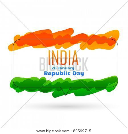 indian flag style vector design with space to write your message