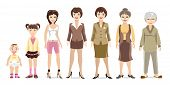 stock photo of woman  - Woman generations - JPG
