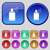 stock photo of spray can  - Graffiti spray can sign icon - JPG