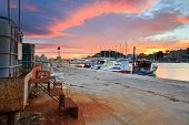 picture of piraeus  - Sunset in Mikrolimano marina in Athens - JPG