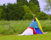 stock photo of cree  - A teepee made by children to use as a den - JPG