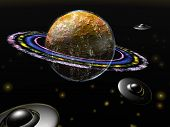 foto of flying saucer  - Unknown planet - JPG