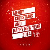 image of happy new year 2014  - Merry Christmas and Happy New Year 2014 card - JPG