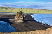 stock photo of volcanic  - Cape Dirholaey in southern Iceland - JPG