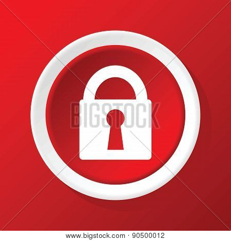 Locked icon on red